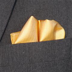 Bröstnäsduk gyllengul vävd