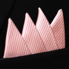 Färdigvikt bröstnäsduk Fyrspets FN049 Ljusrosa