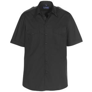 Skjorta MAVERICK svart regular fit kort ärm