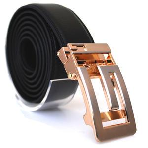 Läderbälte stripe svart 981