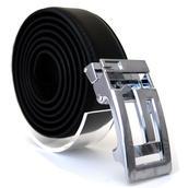 Läderbälte stripe svart 982