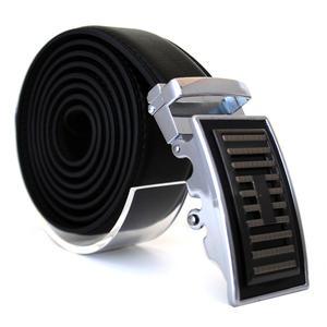 Läderbälte stripe svart 984