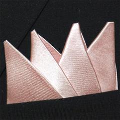 Färdigvikt bröstnäsduk Fyrspets FN047 Ljusrosa