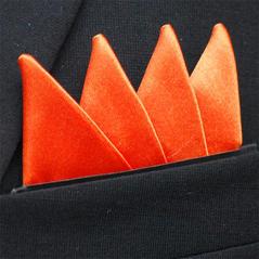 Färdigtvikt bröstnäsduk Fyrspets Orange