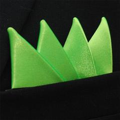 Färdigvikt bröstnäsduk Fyrspets Neongrön