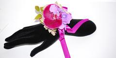 Handledscorsage Orchide Rosa