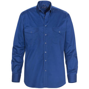 Skjorta MOORE royalblå regular fit