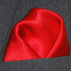 Bröstnäsduk röd