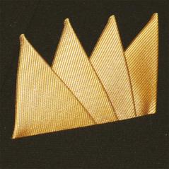 Färdigvikt bröstnäsduk Fyrspets FN051 Gyllengul