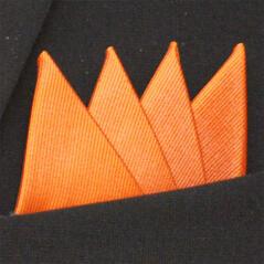 Färdigvikt bröstnäsduk Fyrspets FN052 Orange