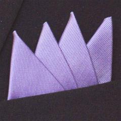 Färdigvikt bröstnäsduk Fyrspets FN055 Ljuslila