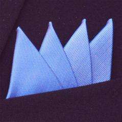 Färdigvikt bröstnäsduk Fyrspets FN056 Ljusblå