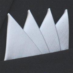 Färdigvikt bröstnäsduk Fyrspets FN057 Silvergrå
