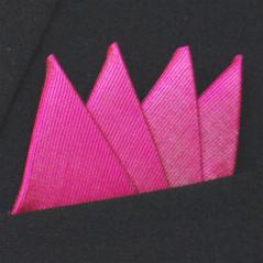 Färdigvikt bröstnäsduk Fyrspets FN059 Cerise