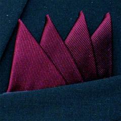 Färdigvikt bröstnäsduk Fyrspets FN060 Vinröd