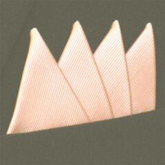 Färdigvikt bröstnäsduk Fyrspets FN064 Aprikos