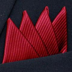 Färdigvikt bröstnäsduk Fyrspets FN065 Bourgogneröd