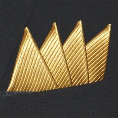 Färdigvikt bröstnäsduk Fyrspets FN152 Guld