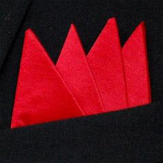 Färdigvikt bröstnäsduk Fyrspets FN304 Röd
