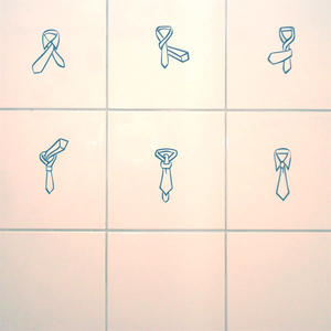 Väggdekor slips halv windsor