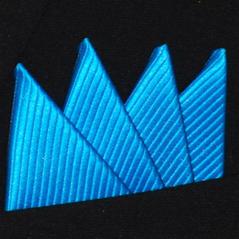 Färdigvikt bröstnäsduk Fyrspets FN067 Turkosblå