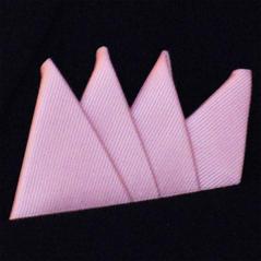 Färdigvikt bröstnäsduk Fyrspets FN068 Rosa