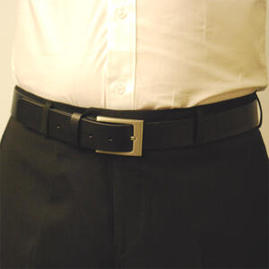 Läderbälte Bull svart 35mm 808