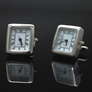 Manschettknappar Klockor Silver