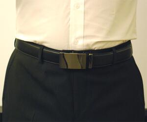Läderbälte stripe svart 977