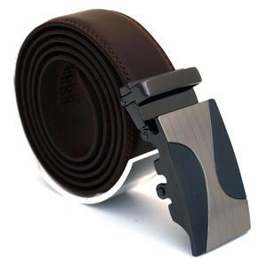 Läderbälte stripe brun 976B