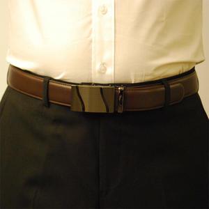 Läderbälte stripe brun 977B