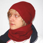 Mössa/Halsduk RICK röd