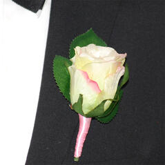 Corsage Ros Liten Lätt Rosa