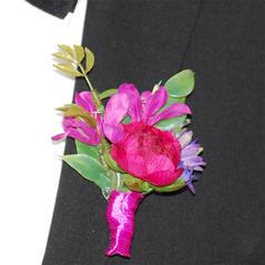 Corsage Pion Rosa Liten