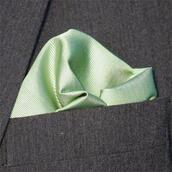 Bröstnäsduk pastellgrön vävd