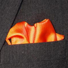 Bröstnäsduk orange vävd