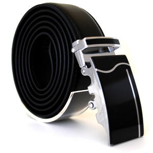 Läderbälte stripe svart 986