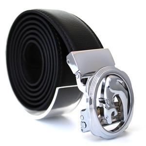 Läderbälte stripe svart 989