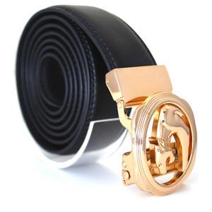 Läderbälte stripe svart 990