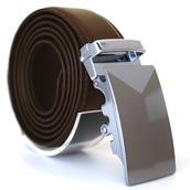 Läderbälte stripe brun 983B