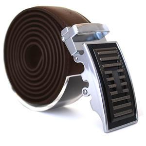 Läderbälte stripe brun 984B