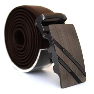 Läderbälte stripe brun 985B