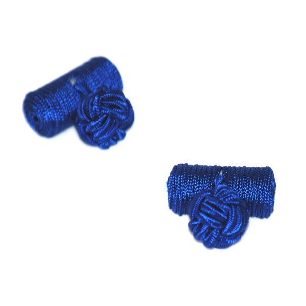 Manschettknopar cylinder royal blå