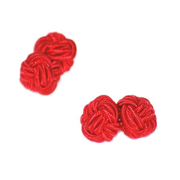 Manschettknopar rund röd