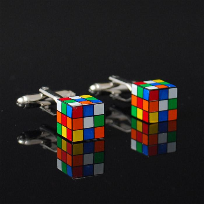 Manschettknappar Rubiks kub