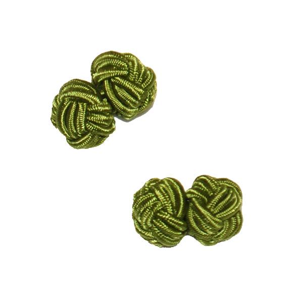 Manschettknopar rund olivgrön
